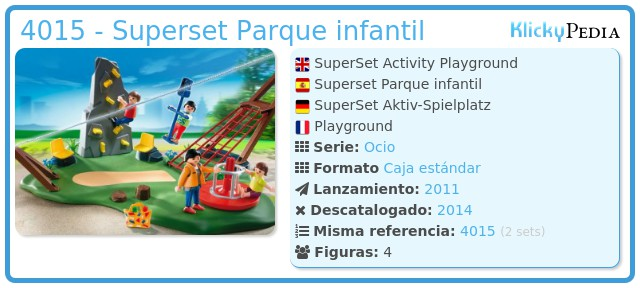 Playmobil 4015 - Superset Parque infantil
