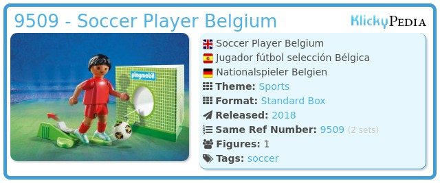 Playmobil 9509 - Soccer Player Belgium