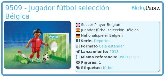 Playmobil 9509 - Jugador fútbol selección Bélgica