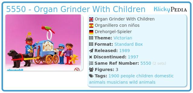 Playmobil 5550 - Organ Grinder With Children