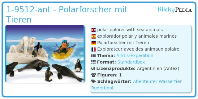 Playmobil 1-9512-ant - Polarforscher mit Tieren