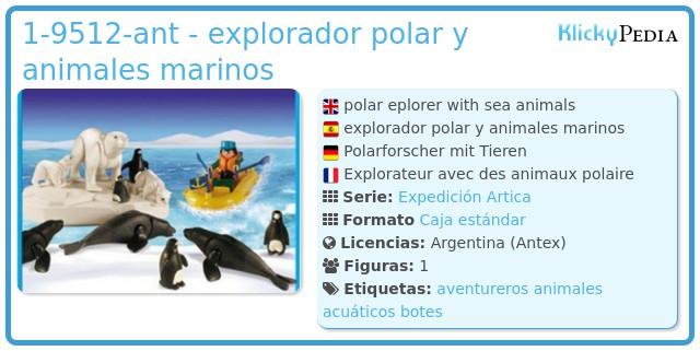 Playmobil 1-9512-ant - explorador polar y animales marinos