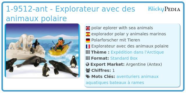 Playmobil 1-9512-ant - Explorateur avec des animaux polaire