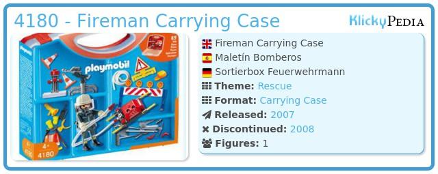 Playmobil 4180 - Fireman Carrying Case