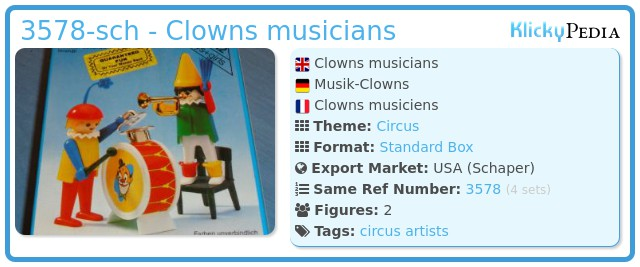 Playmobil 3578-sch - Clowns musicians