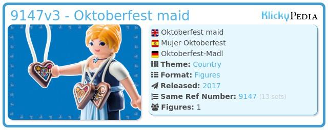 Playmobil 9147v3 - Oktoberfest maid