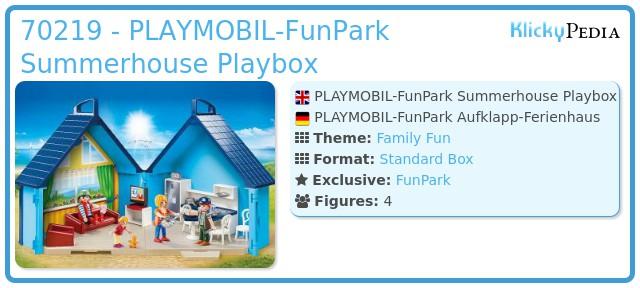 Playmobil 70219 - PLAYMOBIL-FunPark Summerhouse Playbox