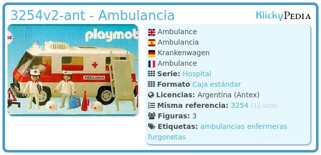 Playmobil 3254v2-ant - Ambulancia