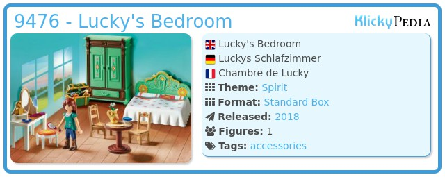 Playmobil 9476 - Lucky's Bedroom