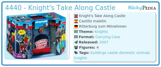 Playmobil 4440 - Knight's Take Along Castle