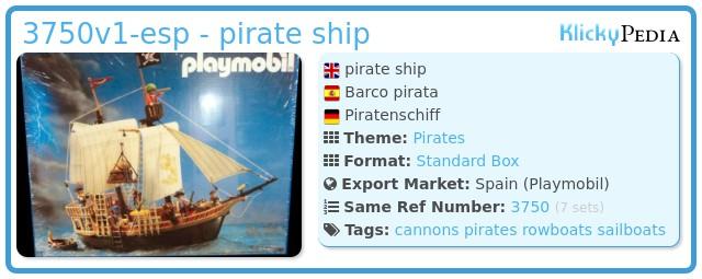Playmobil 3750v1-esp - pirate ship