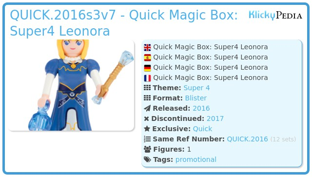 Playmobil QUICK.2016s3v7 - Quick Magic Box: Super4 Leonora