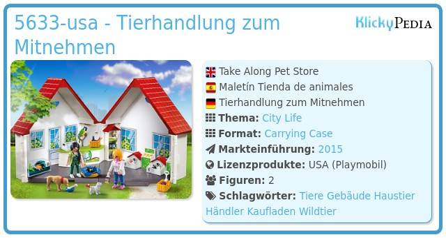 Playmobil 5633-usa - Tierhandlung zum Mitnehmen