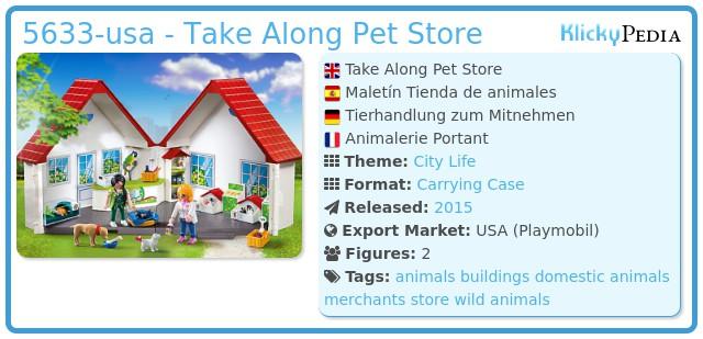 Playmobil 5633-usa - Take Along Pet Store