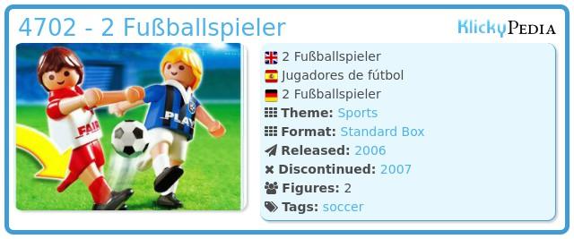 Playmobil 4702 - 2 Fußballspieler