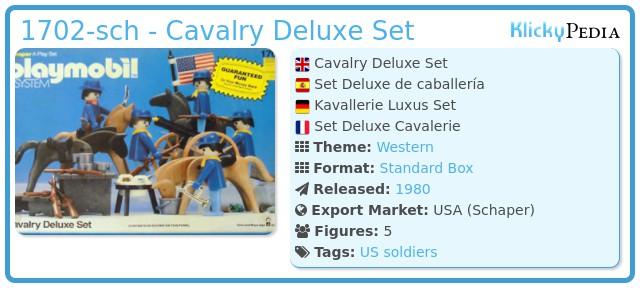 Playmobil 1702-sch - Cavalry Deluxe Set