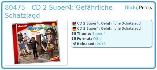Playmobil 80475 - CD 2 Super4: Gefährliche Schatzjagd