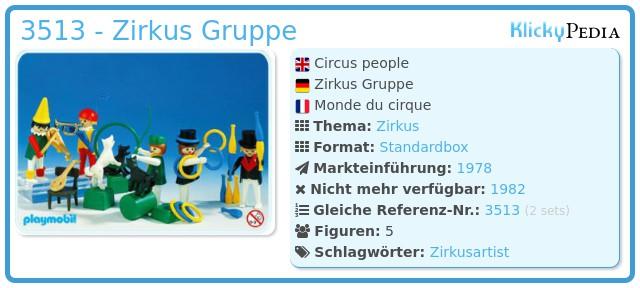 Playmobil 3513 - Zirkus Gruppe