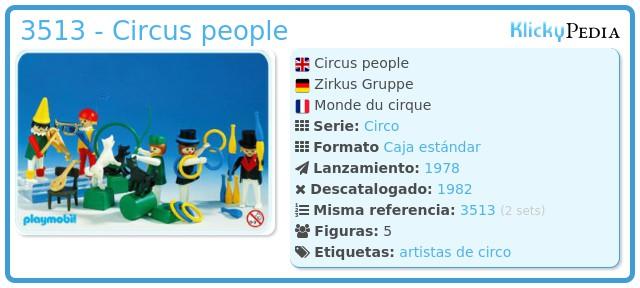 Playmobil 3513 - Circus people
