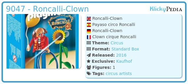 Playmobil 9047 - Roncalli-Clown