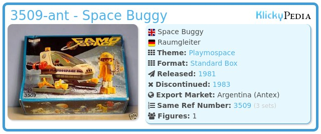 Playmobil 3509-ant - Space Buggy