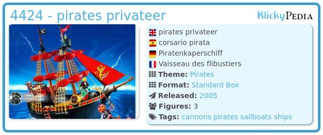 Playmobil 4424 - pirates privateer