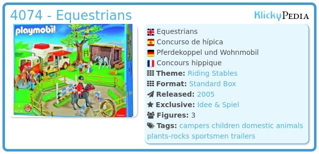 Playmobil 4074 - Equestrians