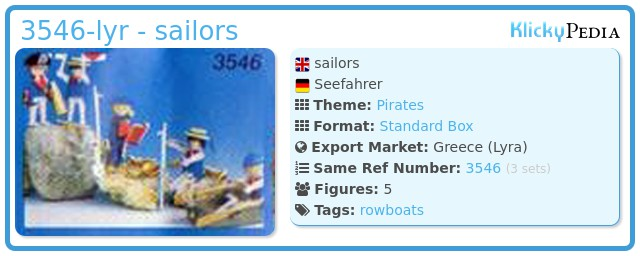 Playmobil 3546-lyr - sailors