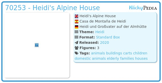 Playmobil 70253 - Heidi's Alpine House