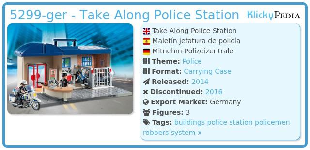 Playmobil 5299-ger - Take Along Police Station