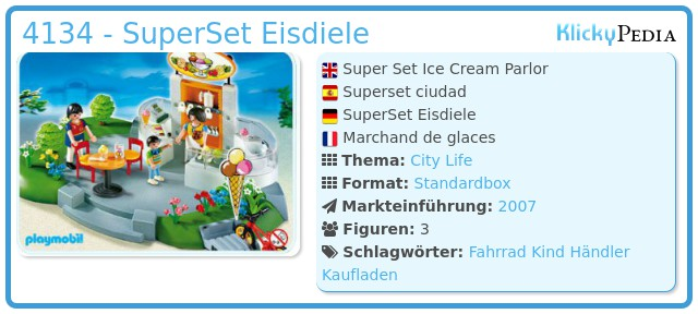 Playmobil 4134 - SuperSet Eisdiele