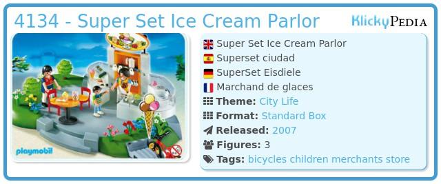 Playmobil 4134 - Super Set Ice Cream Parlor
