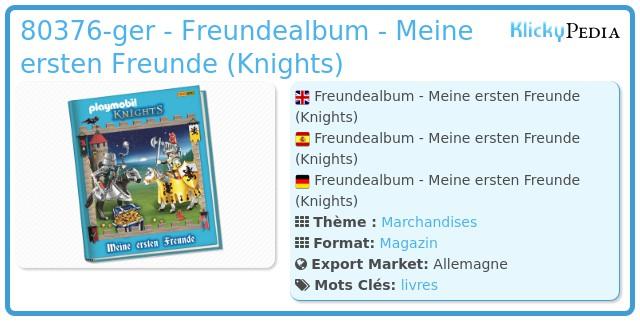 Playmobil 80376-ger - Freundealbum - Meine ersten Freunde (Knights)