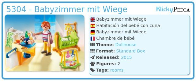 playmobil set: 5304 - babyzimmer mit wiege - klickypedia