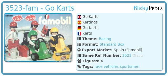 Playmobil 3523-fam - Go Karts