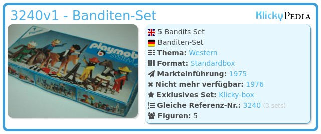 Playmobil 3240v1 - Banditen-Set
