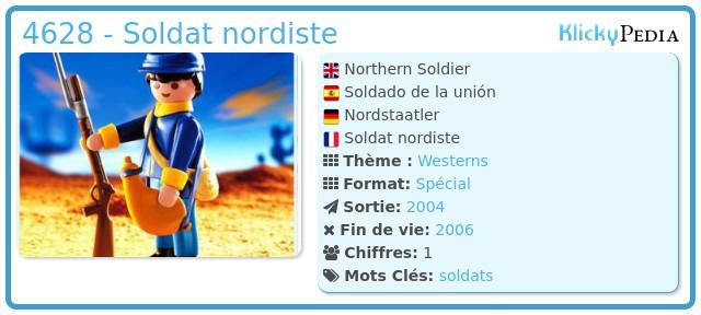 Playmobil 4628 - Soldat nordiste