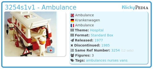 Playmobil 3254s1 - Ambulance