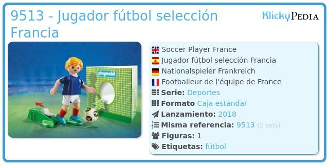 Playmobil 9513 - Jugador fútbol selección Francia