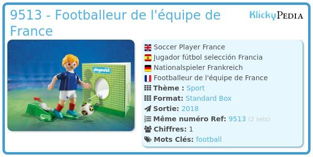 Playmobil 9513 - Footballeur de l'équipe de France