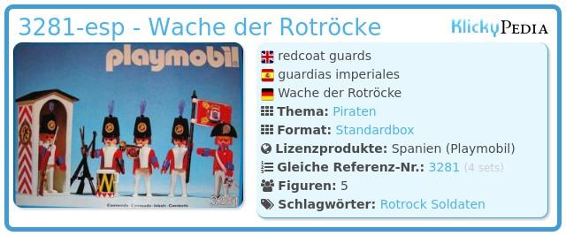 Playmobil 3281-esp - Wache der Rotröcke