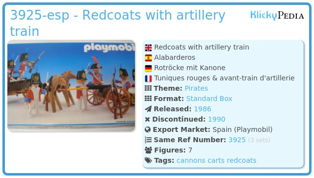 Playmobil 3925-esp - Redcoats with artillery train
