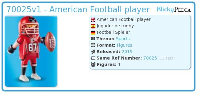 Playmobil 70025-01 - Football player