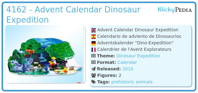 Playmobil 4162 - Advent Calendar Dinosaur Expedition