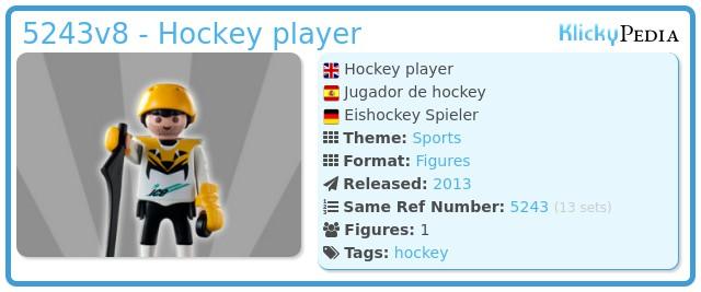 Playmobil 5243v8 - Hockey player