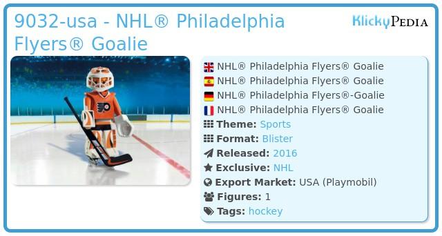 Playmobil 9032-usa - NHL® Philadelphia Flyers® Goalie