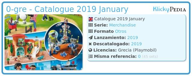 Playmobil 0-gre - Catalogue 2019 January