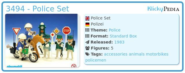 Playmobil 3494 - Police Set