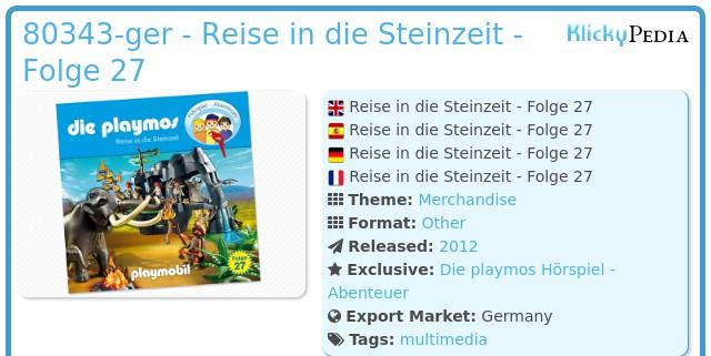 Playmobil 80343-ger - Reise in die Steinzeit - Folge 27