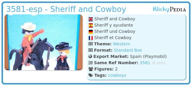Playmobil 3581-esp - Sheriff and Cowboy